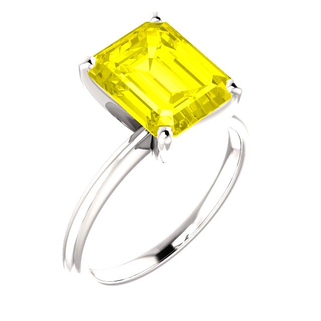 Yellow Diamond Solitaire Engagement Ring