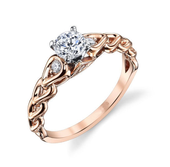 Rose Gold Diamond Accent Engagement Ring
